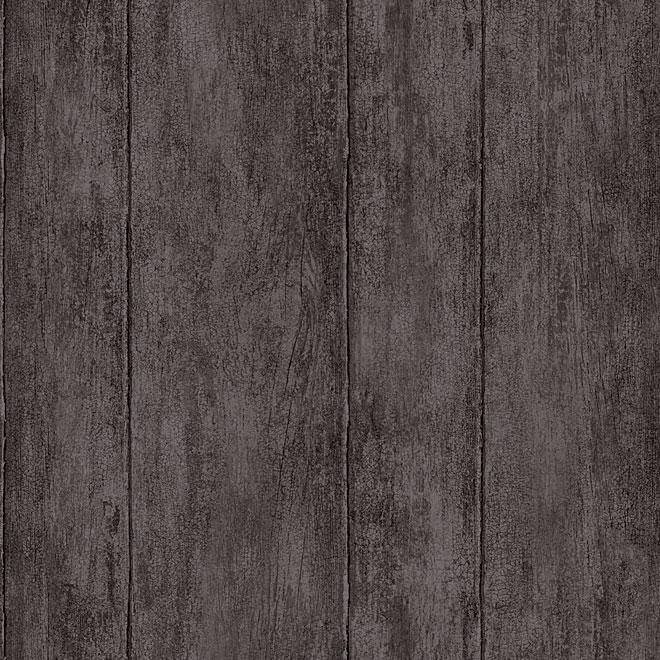 "Prepasted Wallpaper ""Wood"" - Charcoal"