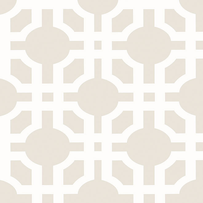 "Prepasted Wallpaper ""Treillis"" - Grey"