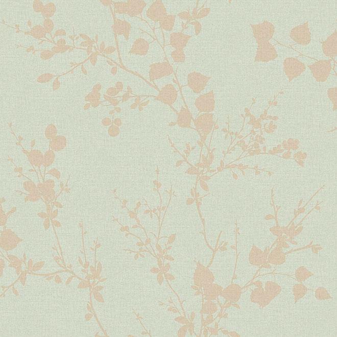 Papier peint pré-encollé «Branche moderne» - Vert menthe