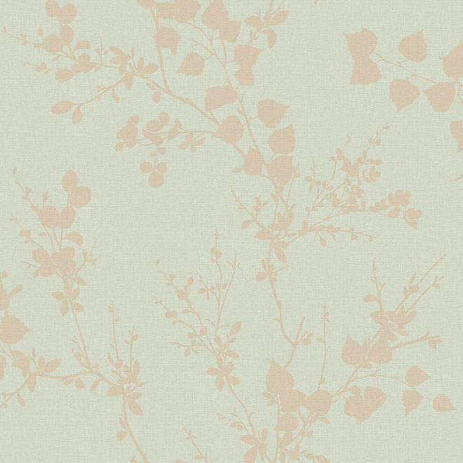 "Prepasted Wallpaper ""Modern Branch"" - Mint Green"