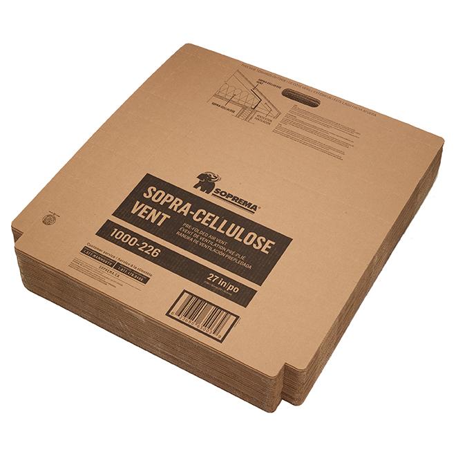 Évent en carton rigide préplié pour plafond et grenier Sopra, 50 morceaux, couverture 240,5 pi2, R 10,8
