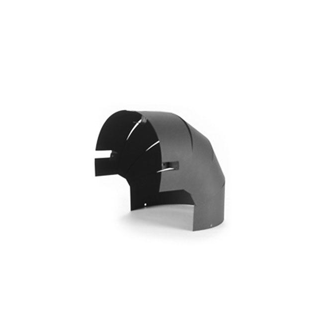"""Elbow Radiant Shield - Side - 6"""" - 24-Gauge - Black"""