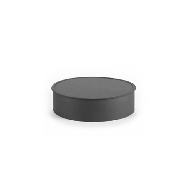 "Tee Cap - Steel - 7"" - 24-Gauge - Black"