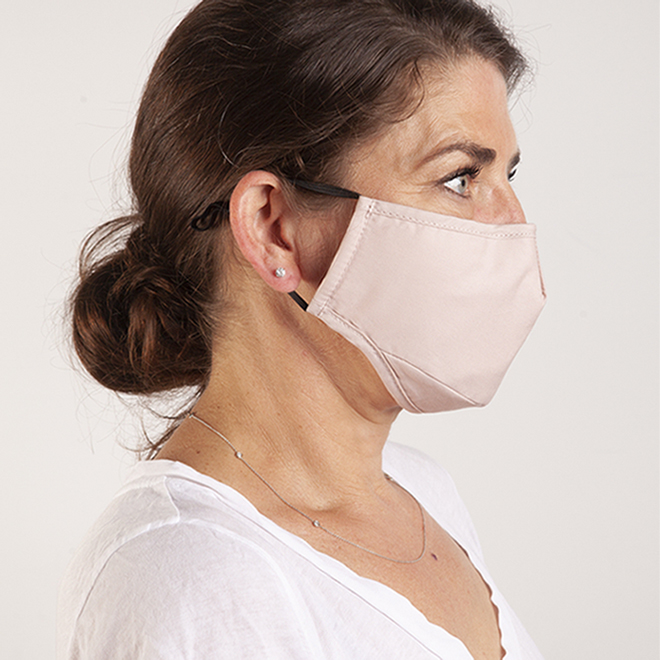Swiss Mobility Cotton Masks - Grey/Pink - 2/Pack