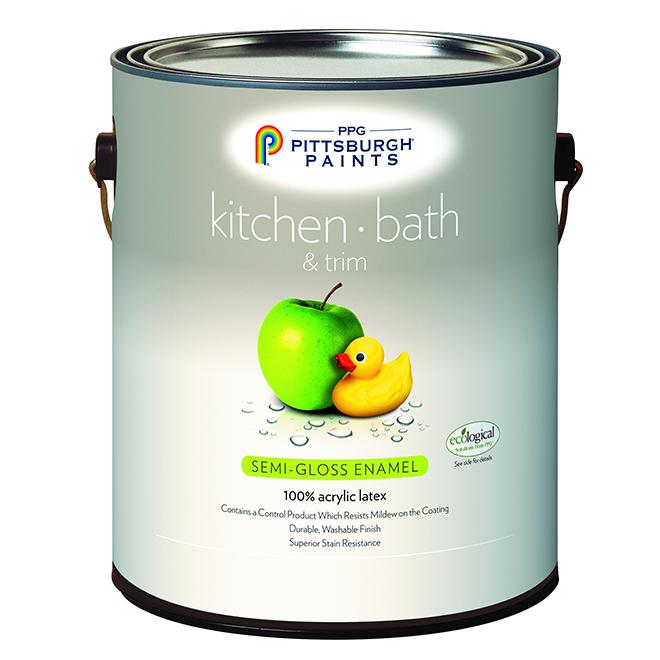 Kitchen/Bathroom Latex Paint -Pastel Base-Semi-Gloss- 3.78 L 19-510C/01