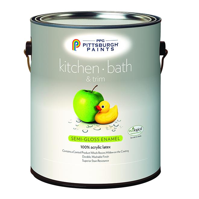 Kitchen/Bathroom Latex Paint -Pastel Base- Semi-Gloss- 946ml 19-510C/04
