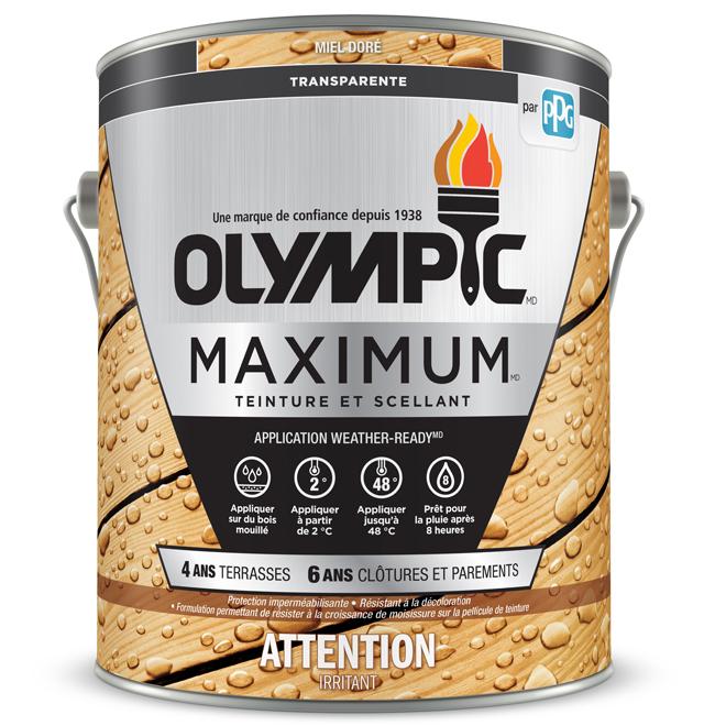 Teinture et scellant «Maximum Toner», miel, 3.78 L