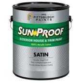 Latex acrylique pour l'extérieur, base pastel, satin, 3,78 l