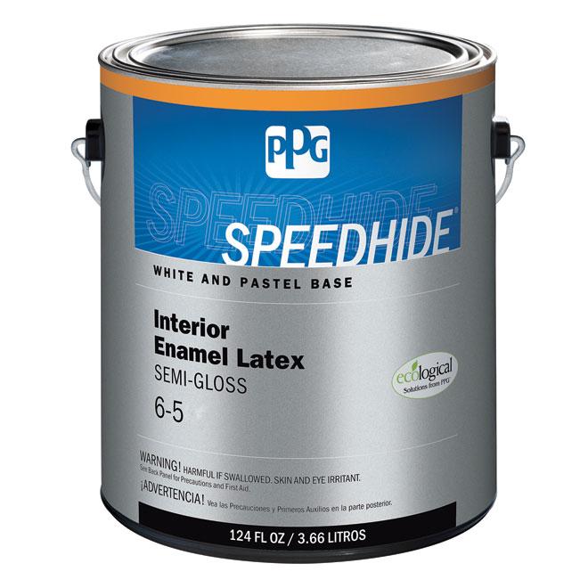 Peinture au latex, base pastel, semi-lustré, 3,78 l