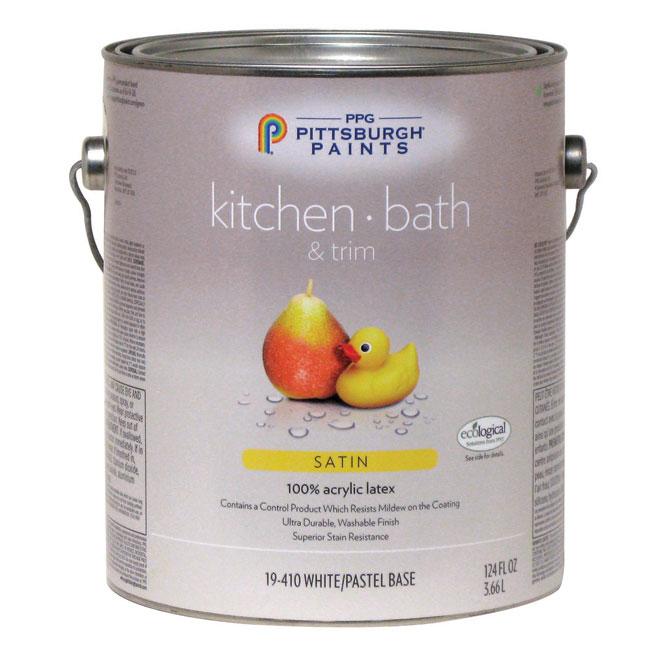 Kitchen/Bathroom Latex Paint - Pastel Base - Satin - 3.78 L 19-410C/01