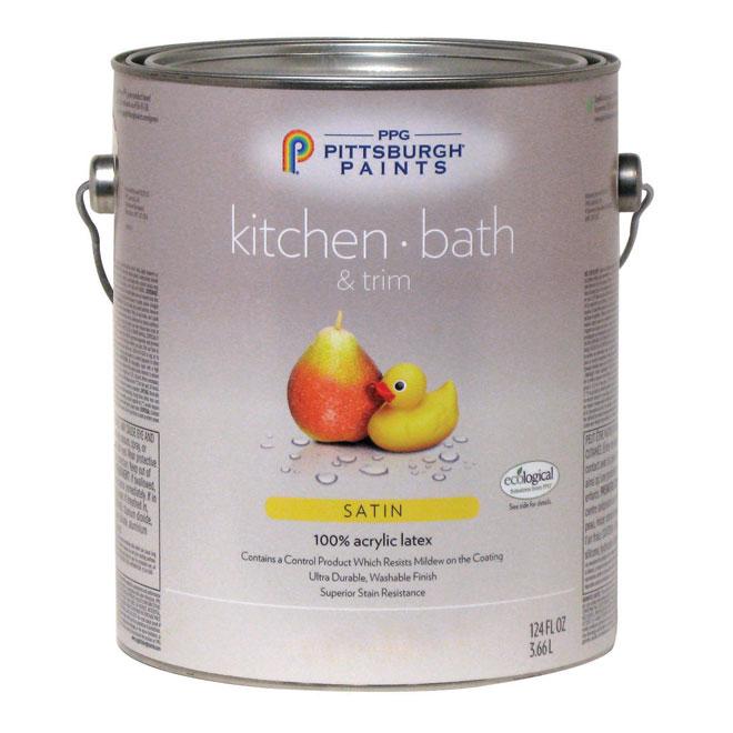 Kitchen/Bathroom Latex Paint -Midtone Base - Satin -3.78 L 19-420C/01