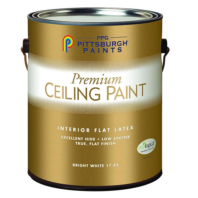 Peinture Au Latex Pour Plafond 378 L Blanc Mat 17 45c01 Rona