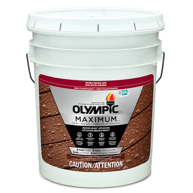 """Maximum"" Stain + Sealant - Neutral Base - 18.9 L"