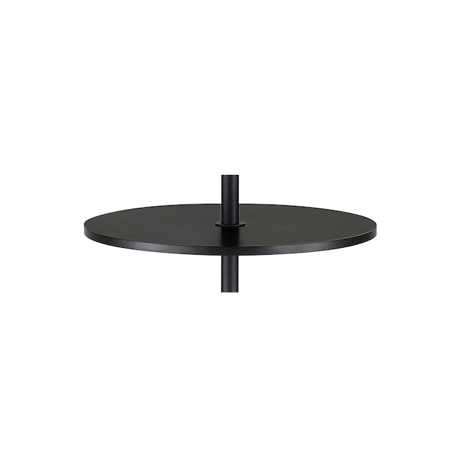 Allen + Roth Floor Lamp with Round Shelf - 58-in - Metal - Matte Black