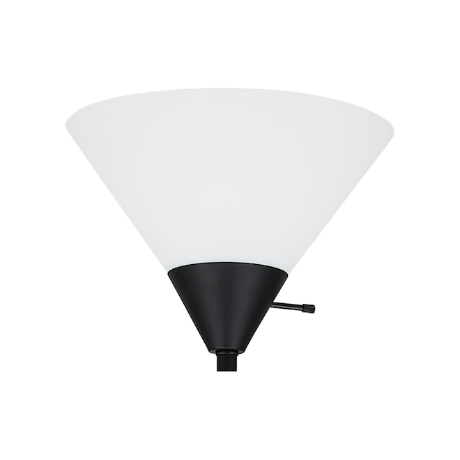 Project Source Floor Lamp with Frosted Shade - 72-in - White and Black