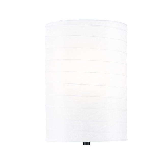 Project Source Table Lamp - 18-in - Rice Paper and Plastic - Matte Black and White