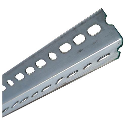 "Slotted Angle Bar - 11/2"" x 48"" x 0.074"" - Glavanized Steel"