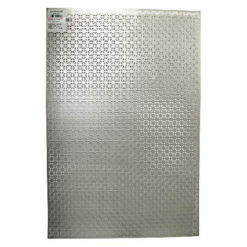 """Feuille d'aluminium décorative, modèle «Union Jack», 24"""" x 36"""""""