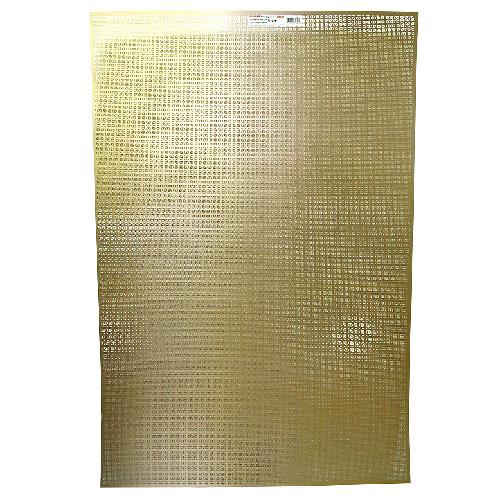 """Feuille d'aluminium anodisé décorative, « Licane », 24"""" x 36"""""""