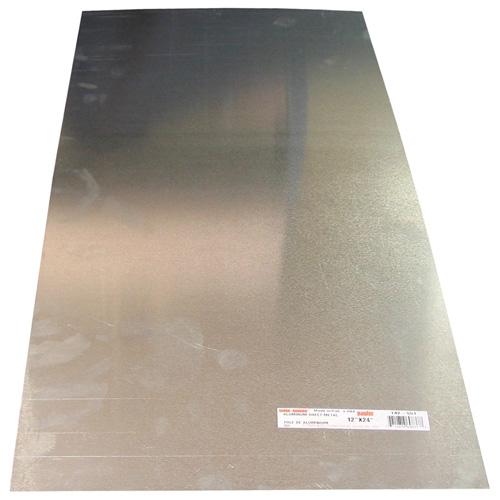 "Feuille d'aluminium anodisé, 8"" x 24"", calibre 25"