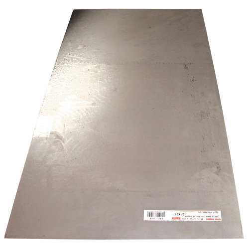 "Galvanized Steel Sheet - 8"" x 24"" - 22-Gauge"