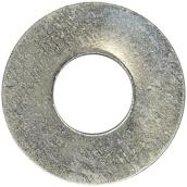 "Flat Washers - Steel - 1/4"" - Box of 162 - Zinc Finish"