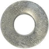 """Flat Washers - Steel - 5/8"""" - Box of 13 - Zinc Finish"""