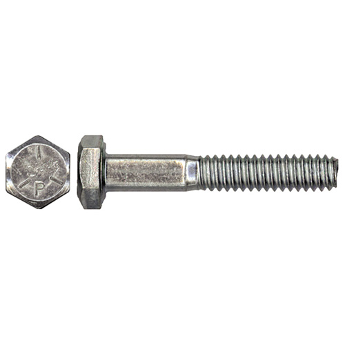 "Steel Hex Bolts - Grade 5 - 7/8"" x 4"" - Box of 10 - Zinc"
