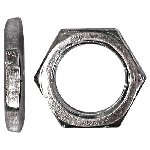 "Écrou en acier, filetage fin, 3/8""-32, 50/bte, zinc"