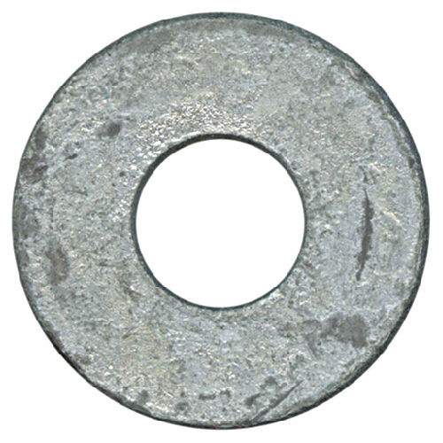 "Flat Washers - Steel - 1/2"" - Box of 26 - Galvanized Finish"
