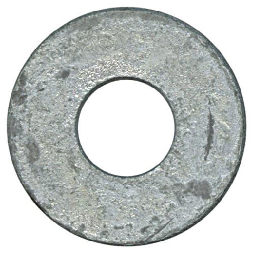 "Flat Washers - Steel - 1/4"" - Box of 154 - Galvanized Finish"