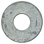 "Flat Washers - Steel - 3/8"" - Box of 71 - Galvanized Finish"