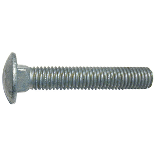 "Carriage Bolts - 3/8""-16 x 6"" - 20/Box - Galvanized Steel"