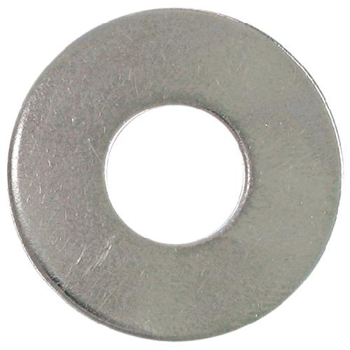 Rondelles plates en acier inoxydable, #6, boîte de 50