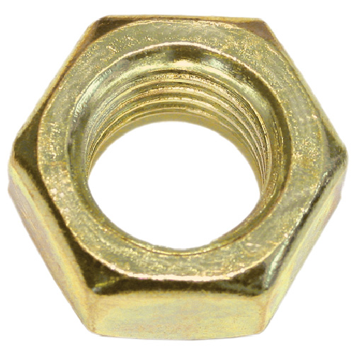 Hex Nuts for Machine Screws - #10-32 - Box of 100 - Brass