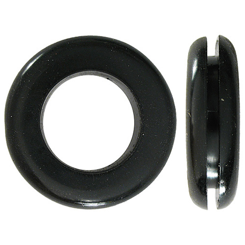 "Rubber Wire Grommet - 7/8"" - Black - Box of 10"
