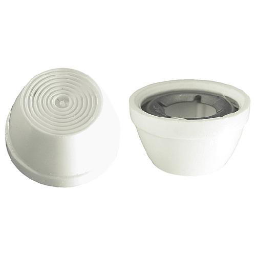 """Capuchon décoratif en plastique, 1/4"""", blanc, boîte de 10"""