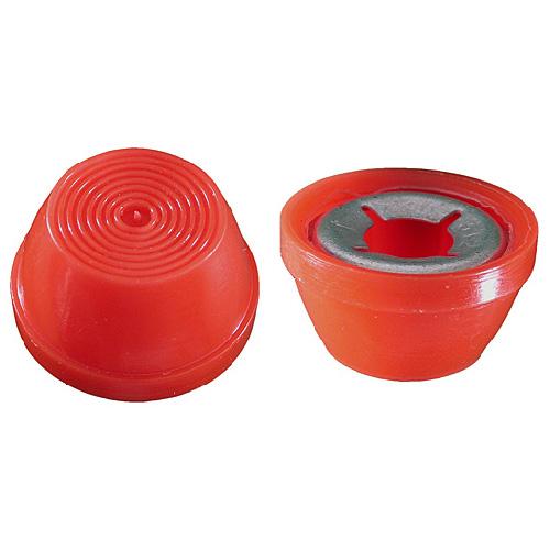 """Capuchon décoratif en plastique, 5/16"""", rouge, boîte de 10"""
