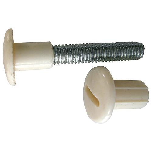 """Boulon connecteur, enduit de nylon, 6"""" x 5/8"""", blanc, 25/pqt"""