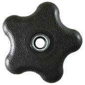 """Écrous de serrage, rosette, 3/8"""", noir,  boîte de 5"""