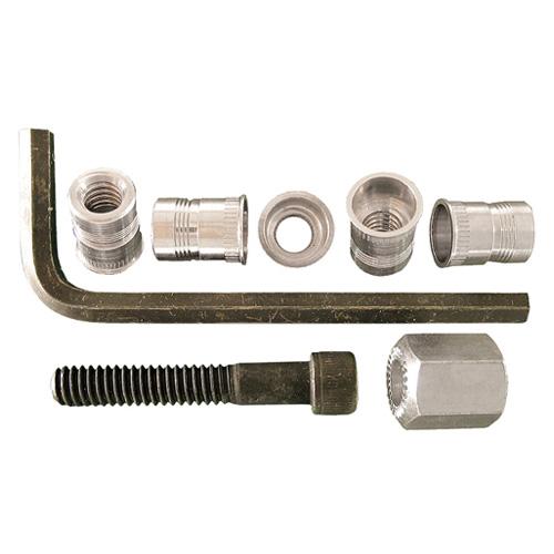 Écrou de serrage en aluminium, #6-32