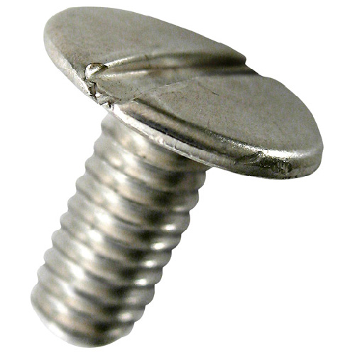 Vis de reliure à tête plate en aluminium Precision, tête fendue, 100 par paquet, no 8 x 1/2 po