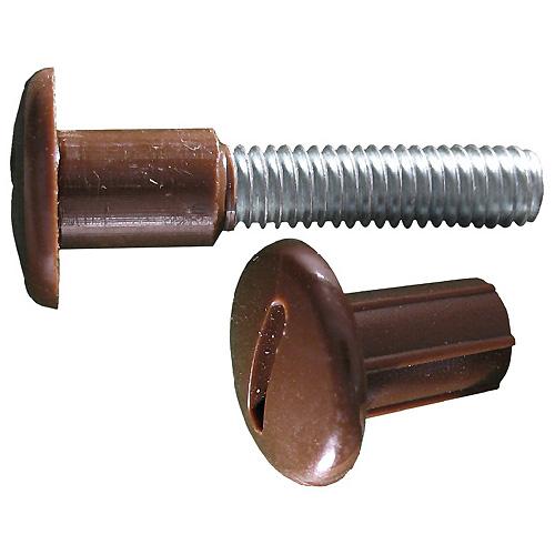 """Boulon connecteur, enduit de nylon, 6"""" x 3/4"""", brun, 25/pqt"""
