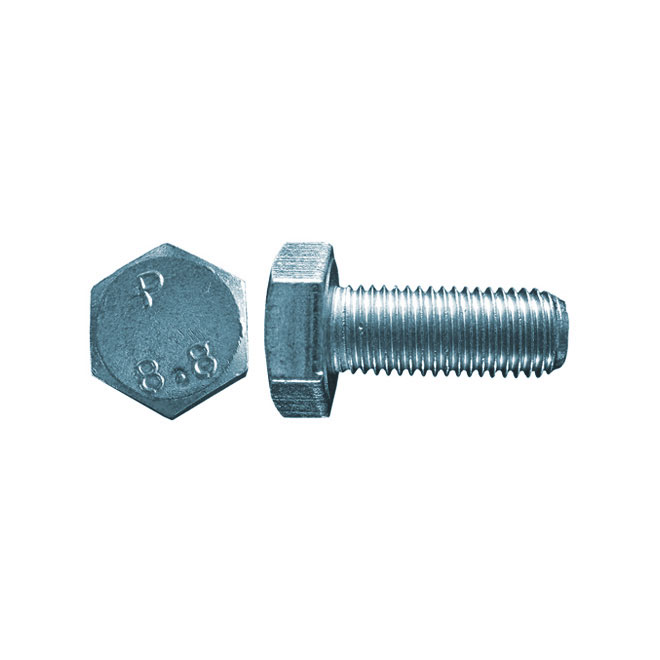 Boulon métrique, filet fin, M10 x 40 mm, 3/bte, zinc
