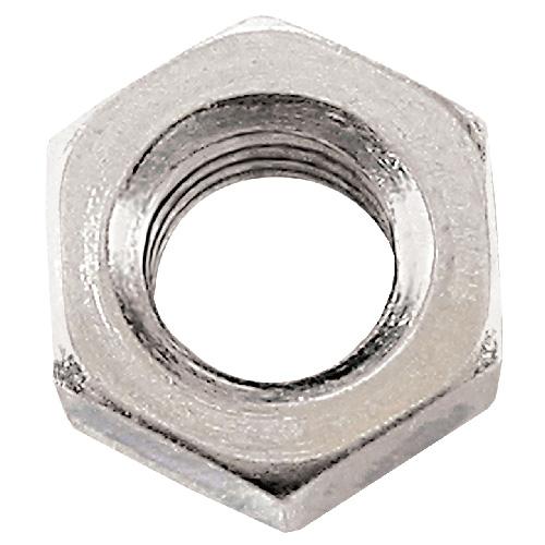 Écrous hexagonaux en acier,  #6-32, paquet de 12, zinc