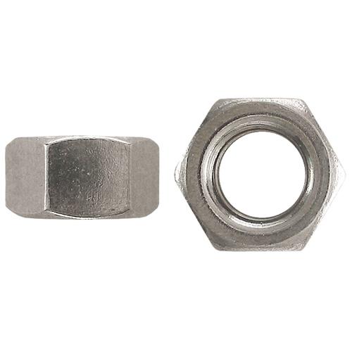 "Écrou hexagonal en acier, grade 5, 3/8""-24, boîte de 50, zinc"