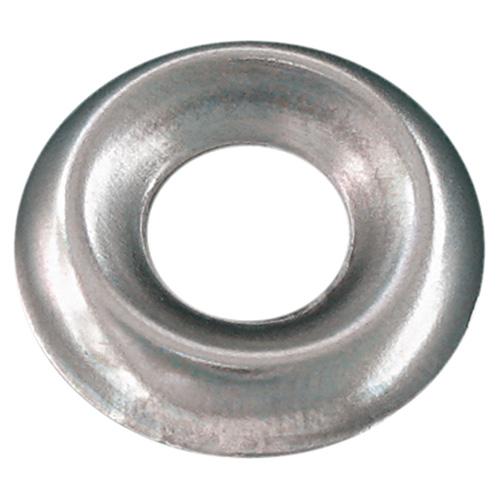 Rondelle de finition en acier, #6, boîte de 12, nickel plaqué