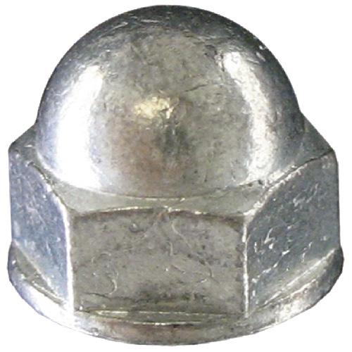 Écrou à dôme, #10-24, 6/pqt, zinc
