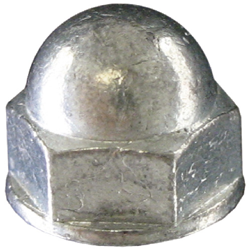 Écrou à dôme, #10-32, 6/pqt, zinc