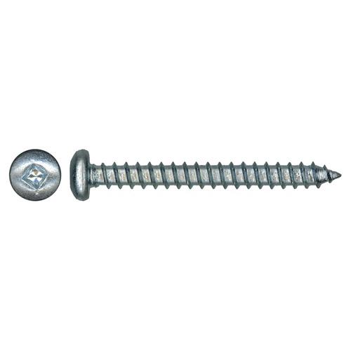 "Pan-Head Zinc-Plated Metal Screws - #12 x 2"" - 100/Box"